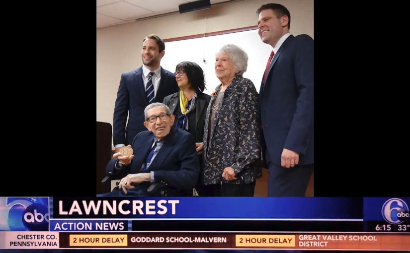 The Congressional Gold Medal was awarded to a local veteran of World War II.